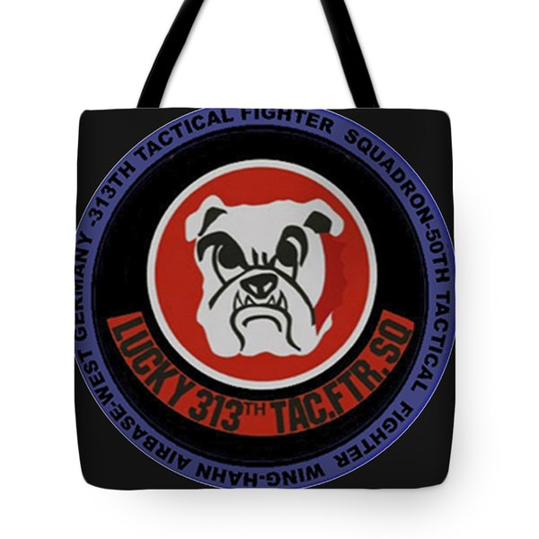 The 313th Tactical Fighter Squadron Tote Bag