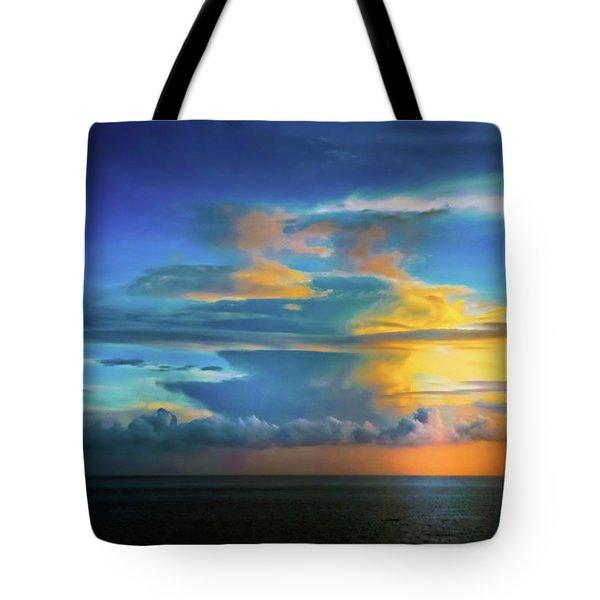 Thunder At Sun Set Tote Bag