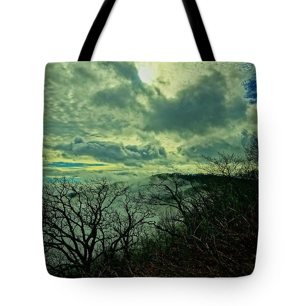 Thunder Mountain Clouds Tote Bag
