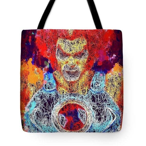 Tote Bag featuring the mixed media Thundercats by Al Matra