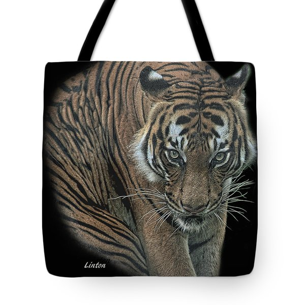 Tote Bag featuring the digital art Tiger 6 by Larry Linton