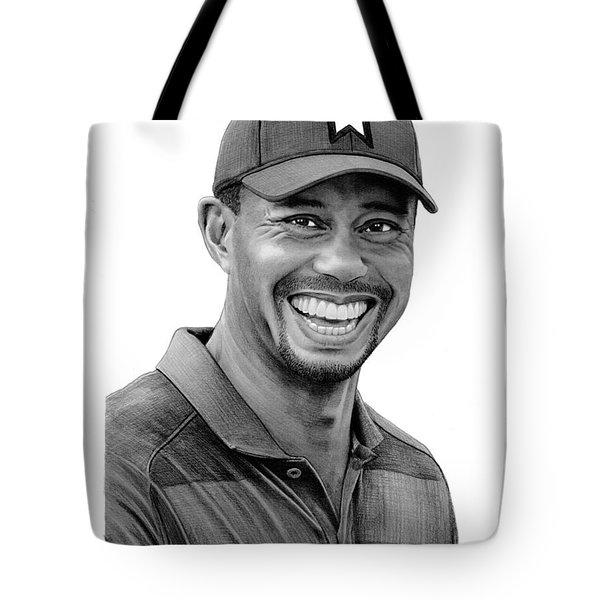 Tiger Woods Drawing Tote Bag