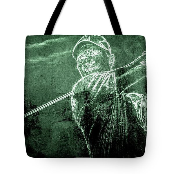 Tiger's On The Green Tote Bag