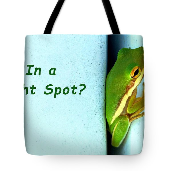 Tight Spot Tote Bag