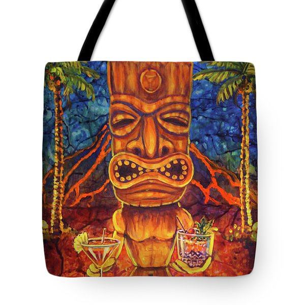 Tiki Cocktail Hour Tote Bag