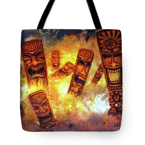 Tiki Hot Spot Tote Bag