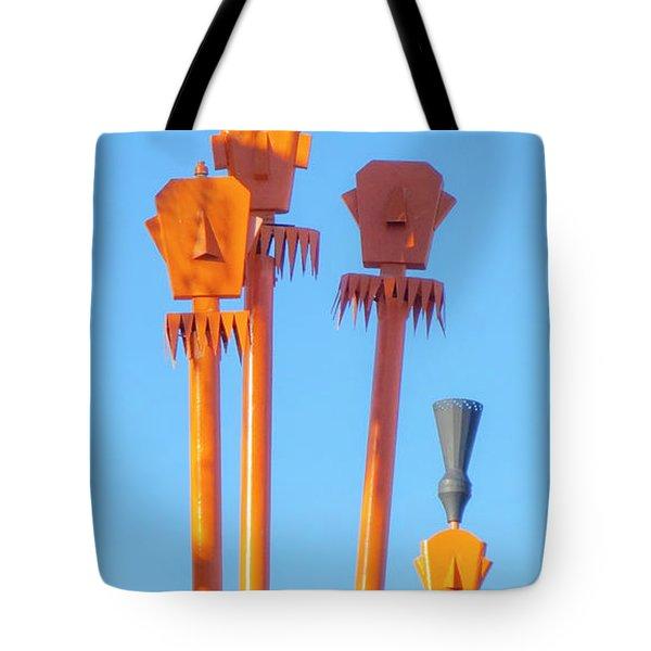 Tiki Palm Springs Tote Bag