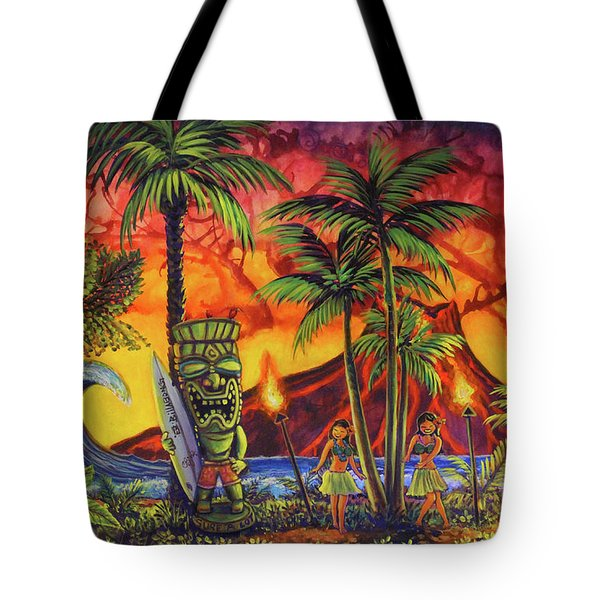 Tiki Surf A Lot Tote Bag