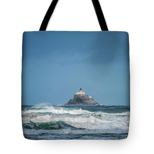 Tillamook Rock Lighthouse Near Cannon Beach Tote Bag