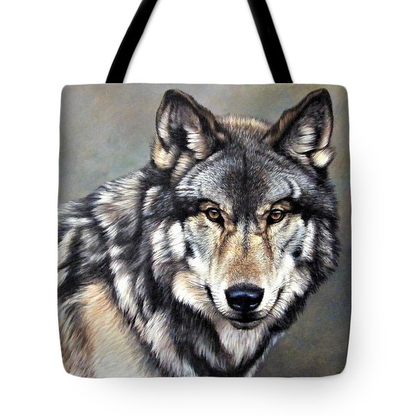 Timber Wolf By Alan M Hunt Tote Bag