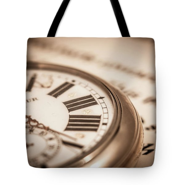 Time And Words Tote Bag