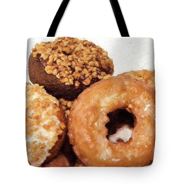 Tote Bag featuring the photograph Time To Eat The Donuts by Andee Design