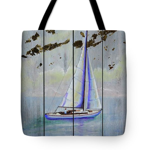 Tote Bag featuring the painting Time To Sail by Mary Scott