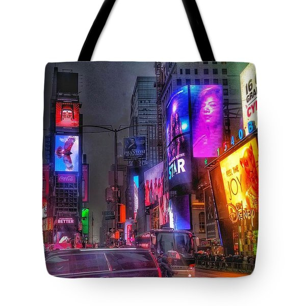 Times Square - The Light Fantastic 2016 Tote Bag