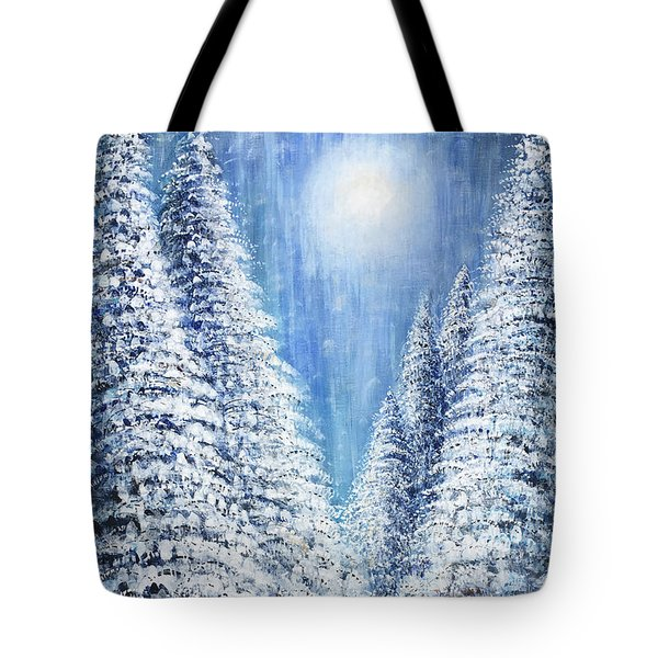 Tim's Winter Forest 2 Tote Bag