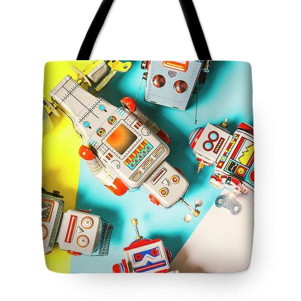 Tin Circuits Tote Bag