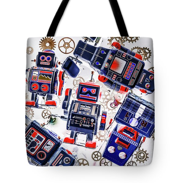 Tin Toy Factory Tote Bag