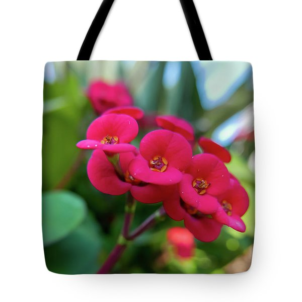 Tiny Red Flowers Tote Bag