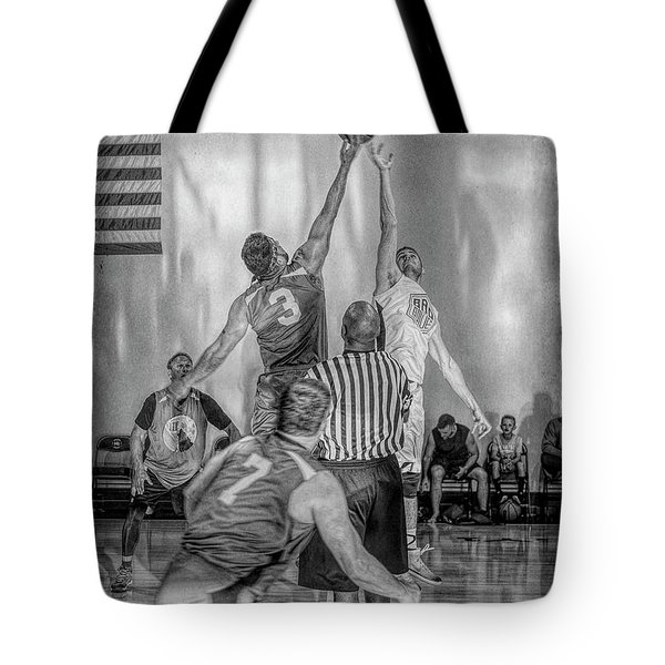 Tote Bag featuring the photograph Tip Off by Ronald Santini