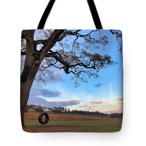 Tire Swing Tree Tote Bag