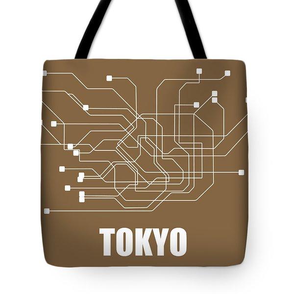 Tokyo Subway Map 2 Tote Bag