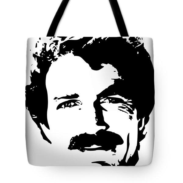 Tom Selleck Minimalistic Pop Art Tote Bag
