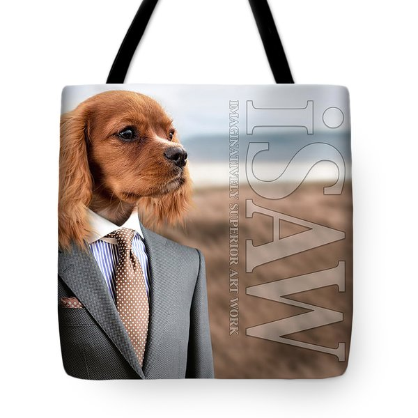 Tote Bag featuring the digital art Top Dog Magazine by ISAW Company