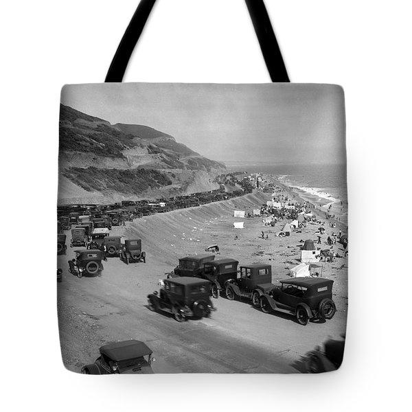 Topanga State Beach 1920 Tote Bag