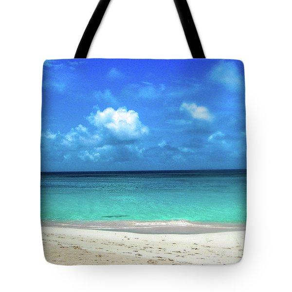 Topical Beach View Anguilla Tote Bag