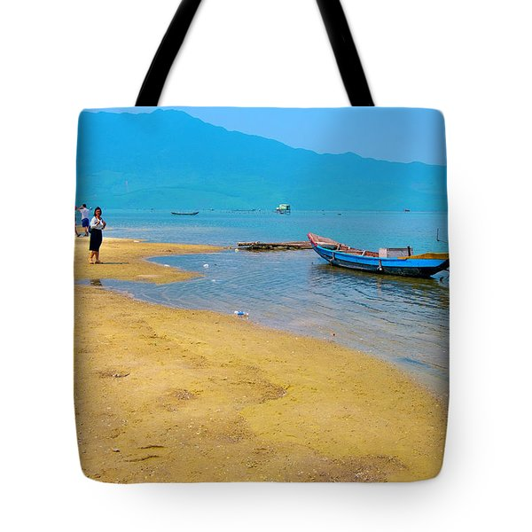 Tourists In Lang Co 1 - Hue, Vietnam Tote Bag