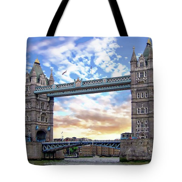 Tote Bag featuring the photograph Tower Bridge by Anthony Dezenzio