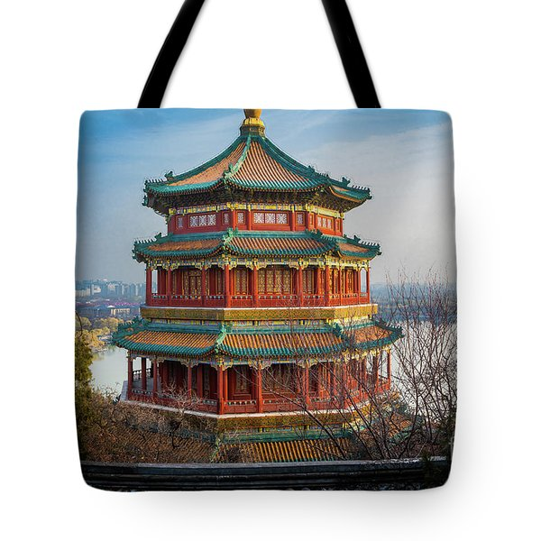 Tower Of Buddhist Incense Tote Bag