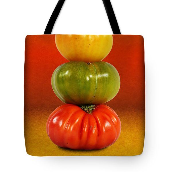 Tower Of Colorful Tomatoes Tote Bag