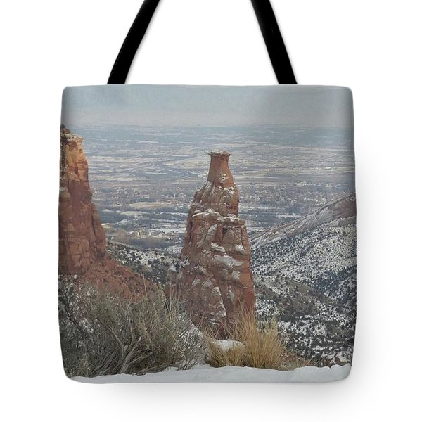 Tower Rock Tote Bag