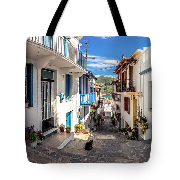 Town Of Skopelos Tote Bag