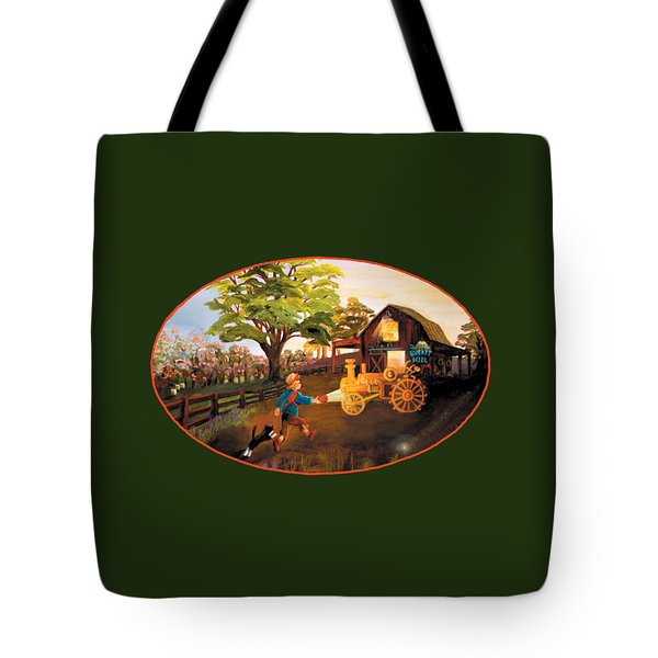 Tractor And Barn Tote Bag