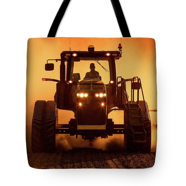 Tractor And Dust Tote Bag