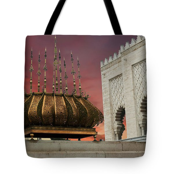 Traditional Outdoor Lighting Urn, Mausoleum Tote Bag