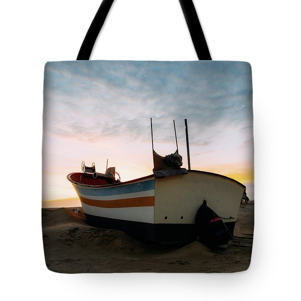 Traditional Wooden Fishing Boat Tote Bag