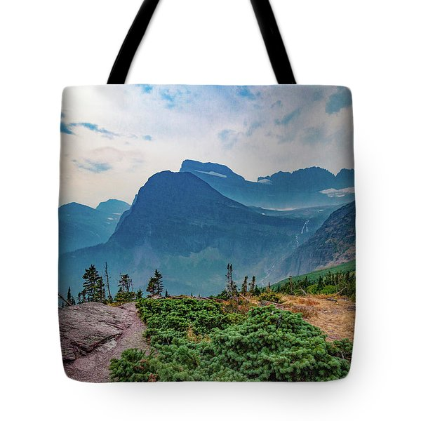Tote Bag featuring the photograph Trail To Grinnell Glacier by Lon Dittrick