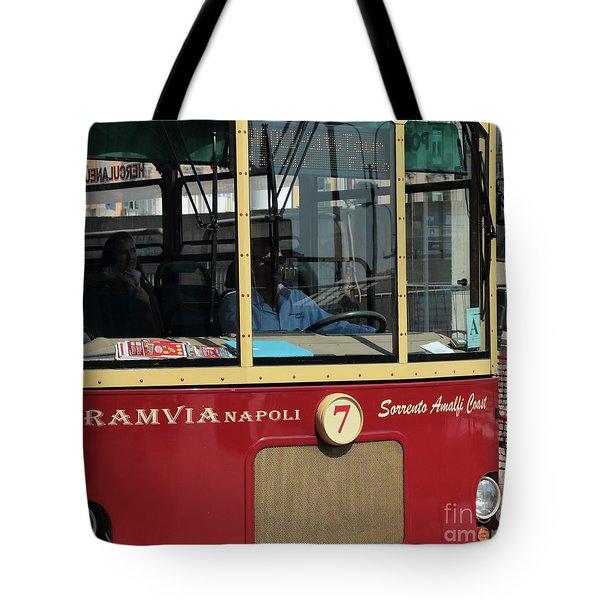 Tram Naples Tote Bag