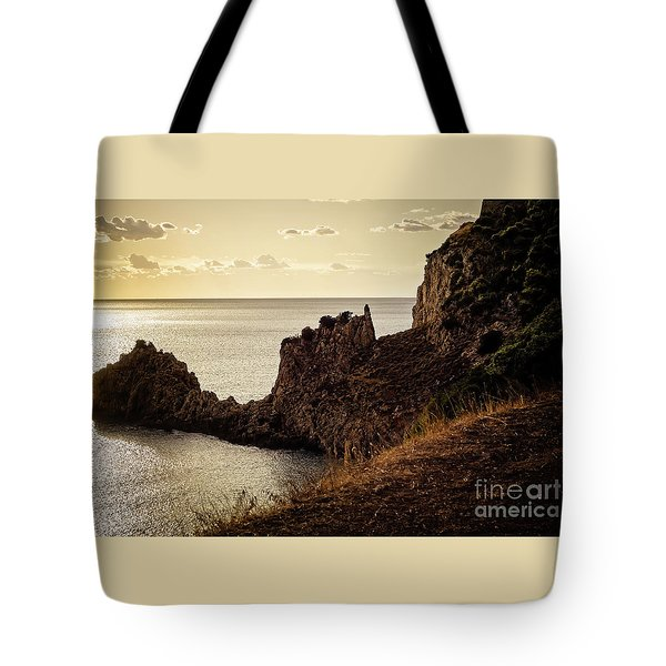Tranquil Mediterranean Sunset    Tote Bag