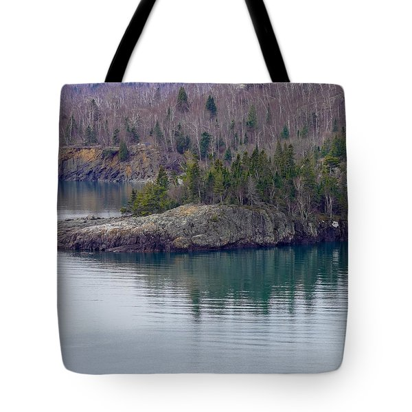Tranquility In Silver Bay Tote Bag