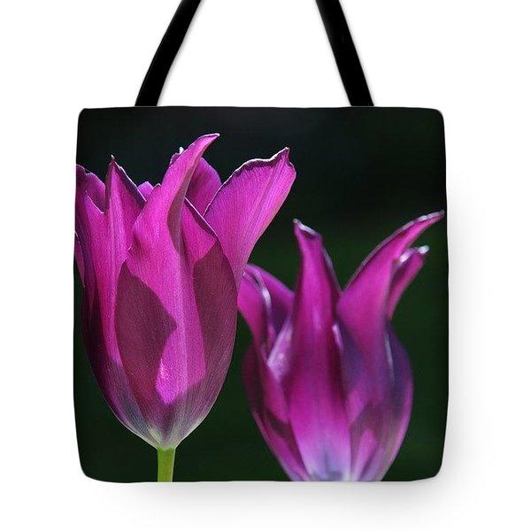 Translucent Tulips Tote Bag