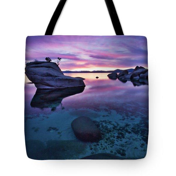 Transparent Sunset Tote Bag