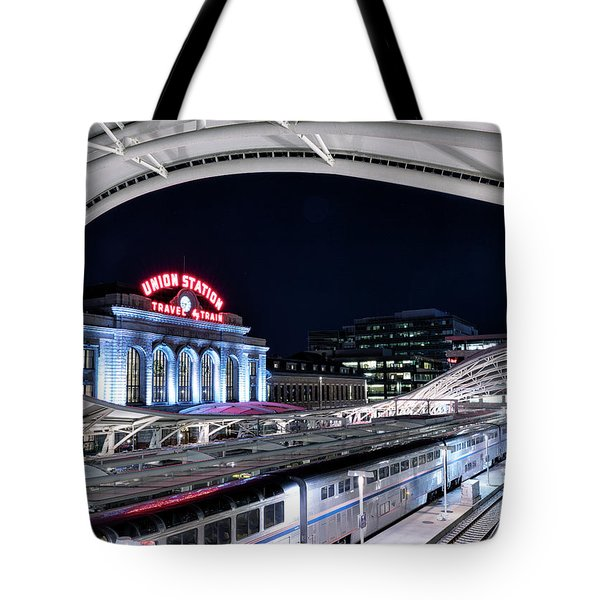 Travel By Train - Union Station Denver #2 Tote Bag