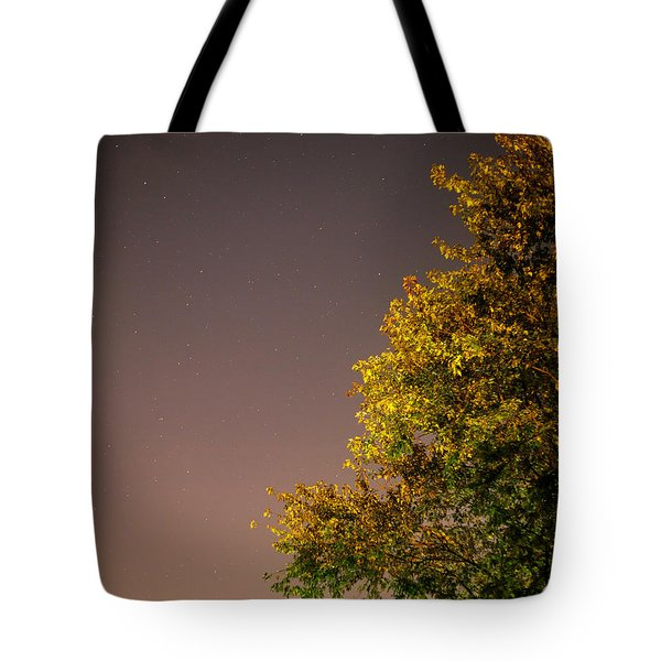 Tree And Stars Tote Bag