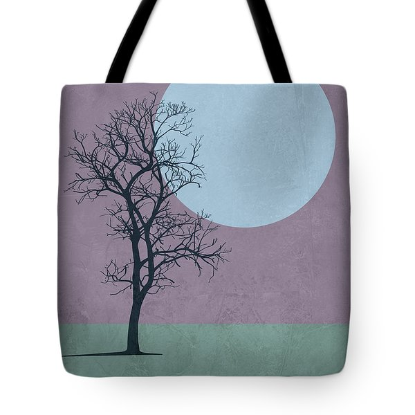 Tree And The Moon Tote Bag