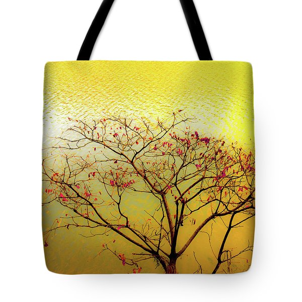 Tree And Water 2 Tote Bag