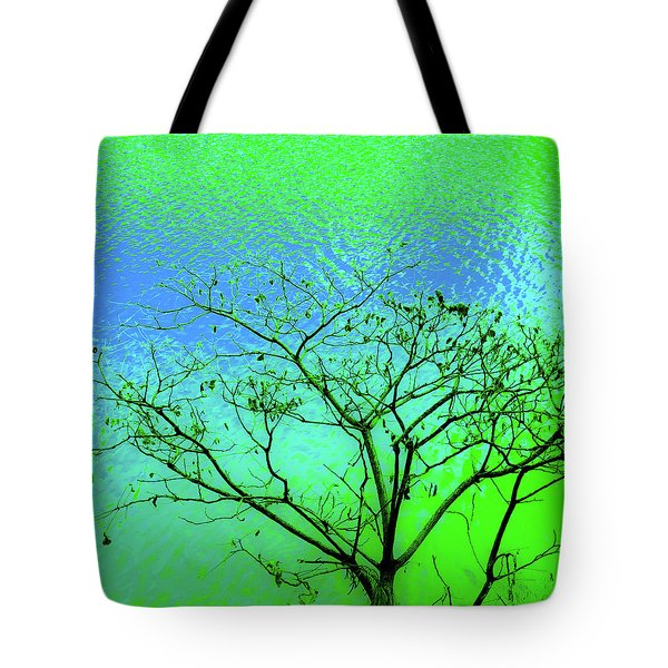 Tree And Water 3 Tote Bag